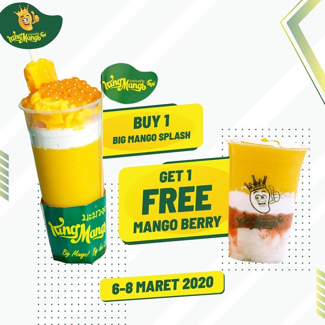 King Mango Promo Buy 1 Mango Splash Get 1 Mango Berry Free