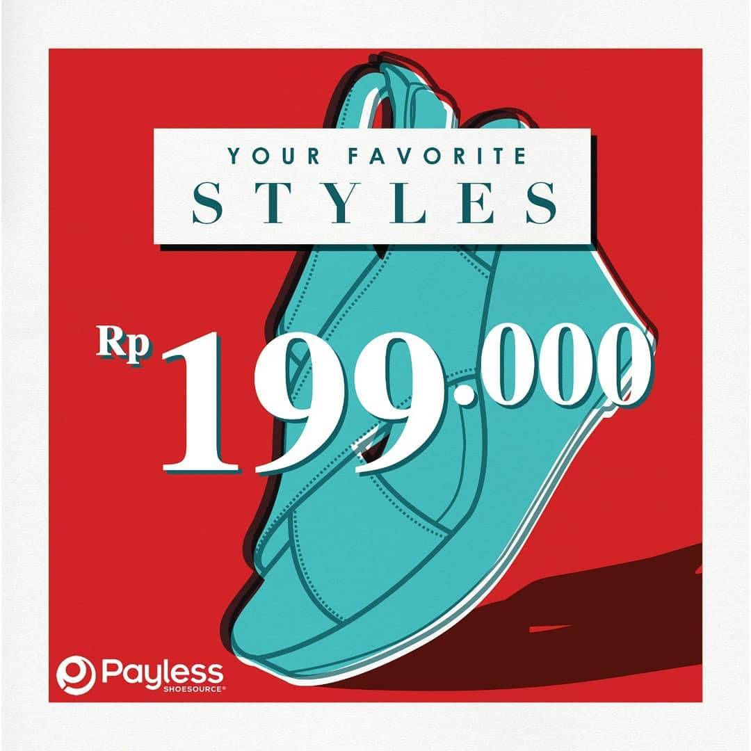 Payless Promo Special Price IDR. 199.000 For Selected Items