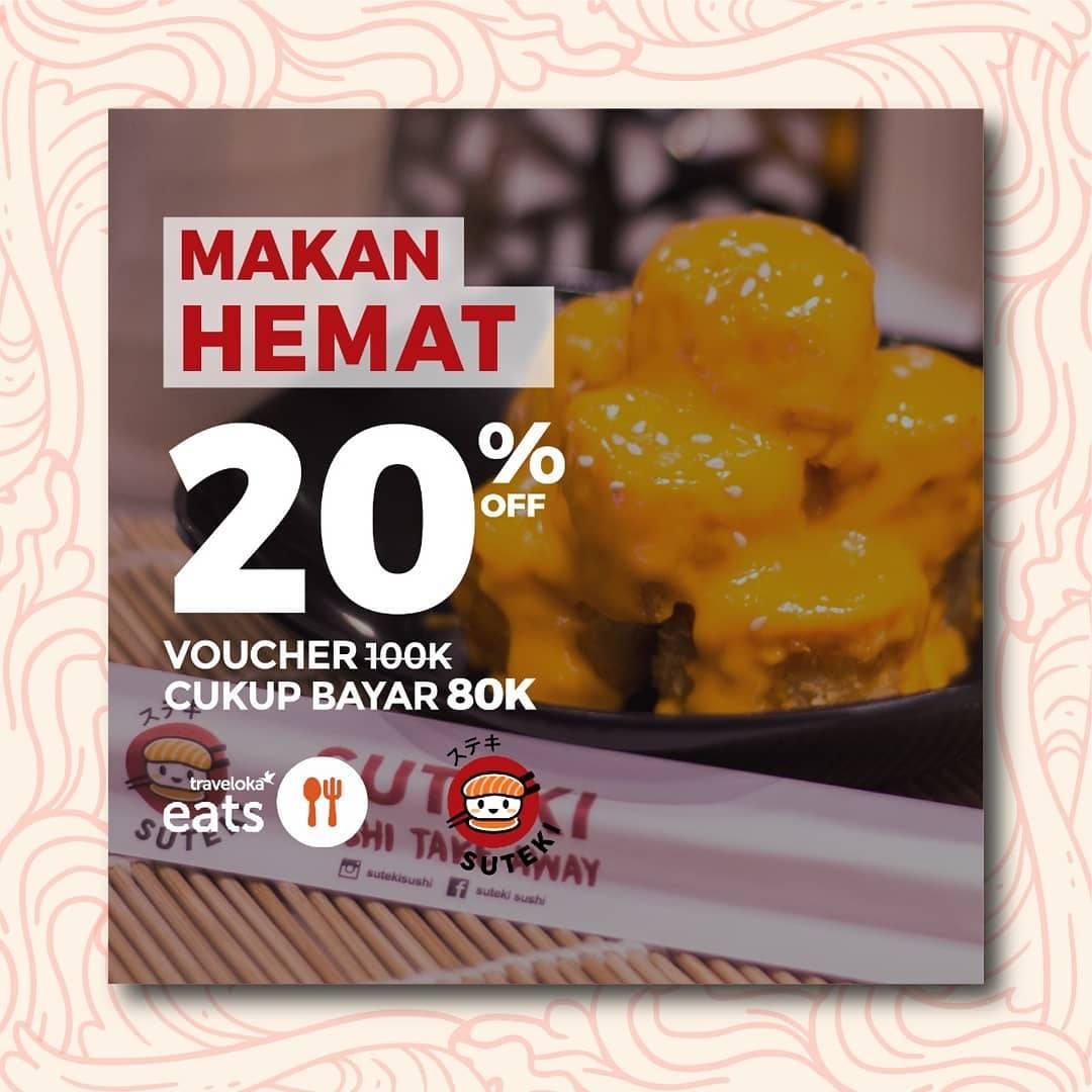 Sushi Tei Promo Makan Hemat Dengan Diskon 20% Dengan Voucher Traveloka