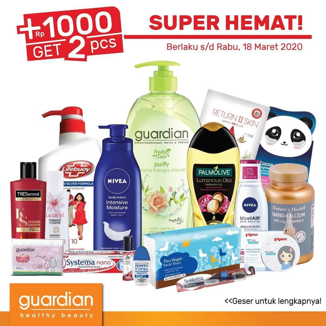 Diskon Guardian Promo Katalog +1000 Dapat 2 Periode 5 - 18 Maret 2020