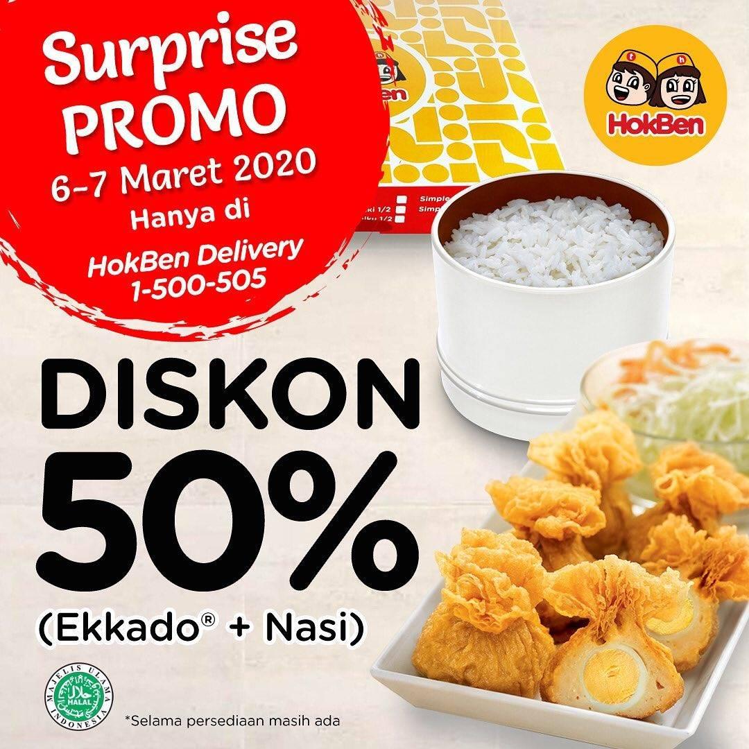 Hokben Promo Diskon 50% Untuk Pembelian Melalui Hokben Delivery & Grabfood