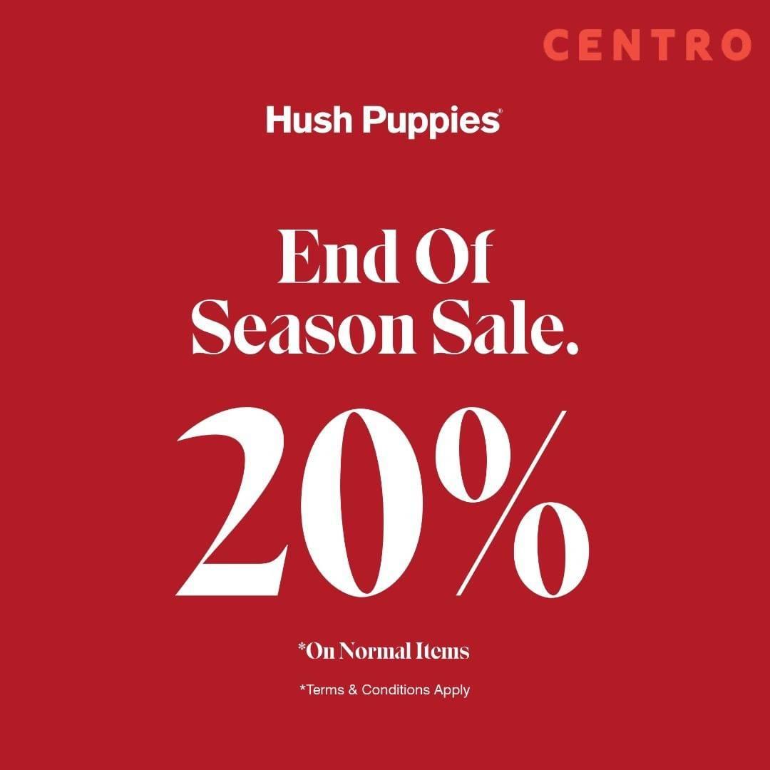 Hush Puppies Centro Promo Discount 20% Off