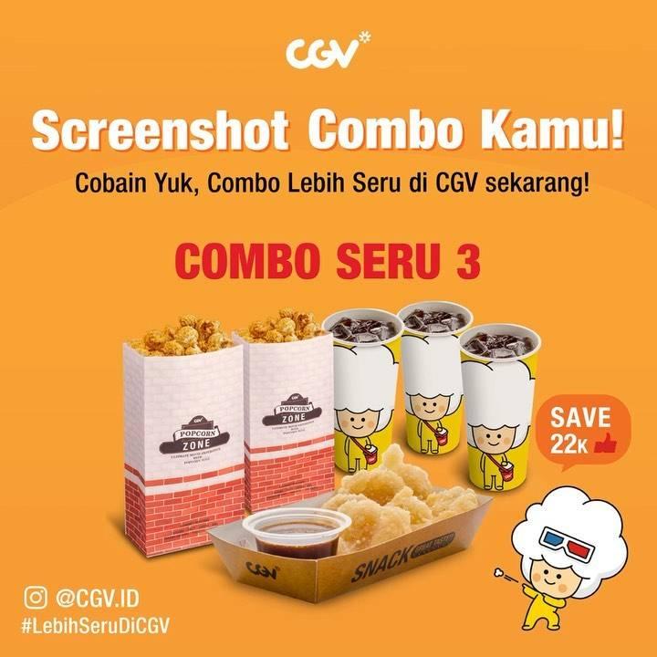CGV Promo Combo Seru 3 Save Rp. 22.000