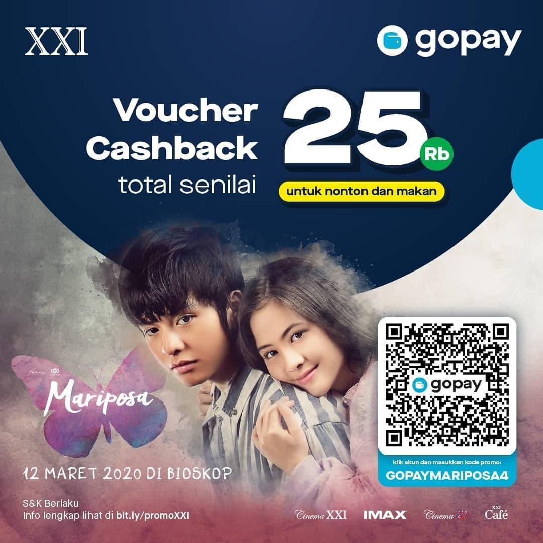 XXI Promo Voucher Cashback Senilai Rp. 25.000 Melalui Gopay