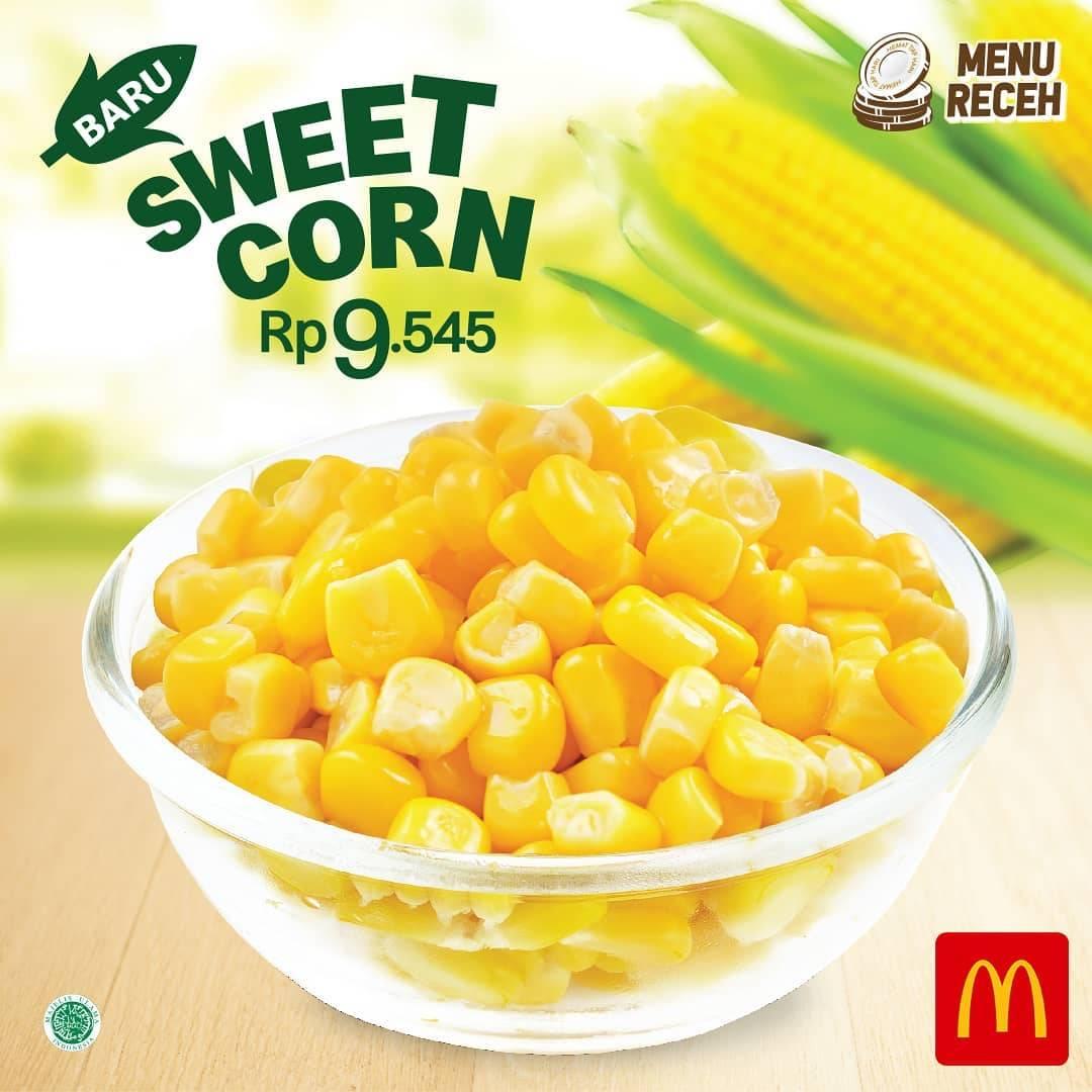 McDonalds Promo Sweet Corn Cuma Rp. 9.545
