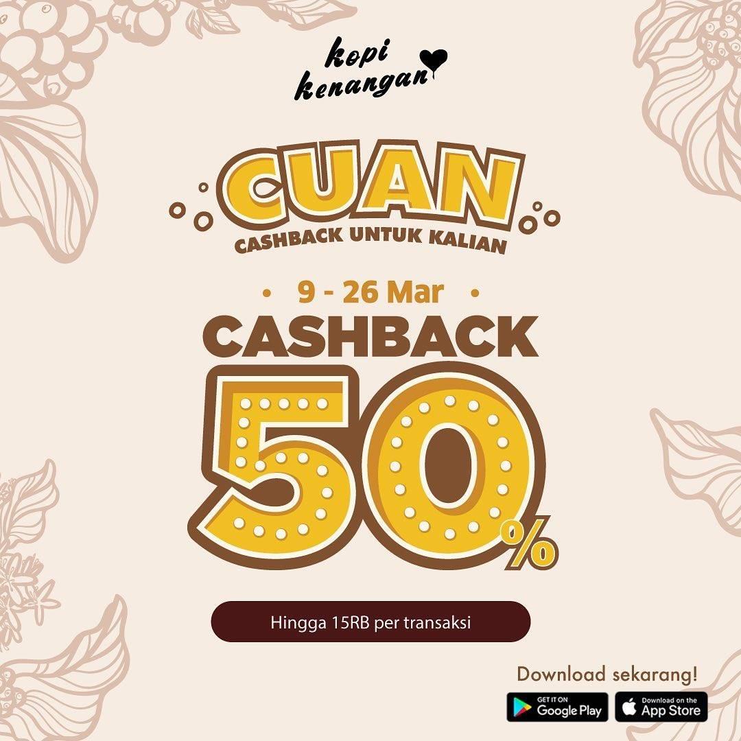 Diskon Kopi Kenangan Promo Cuan, Cashback 50% Kenangan Points