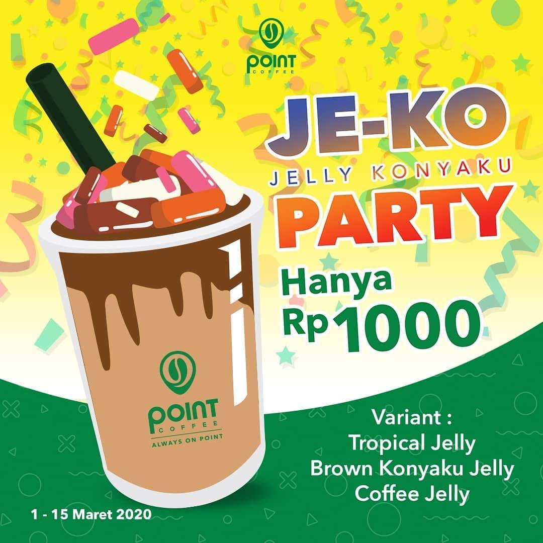 Indomaret Point Coffee Promo Jelly Konyaku Party Hanya Rp. 1.000