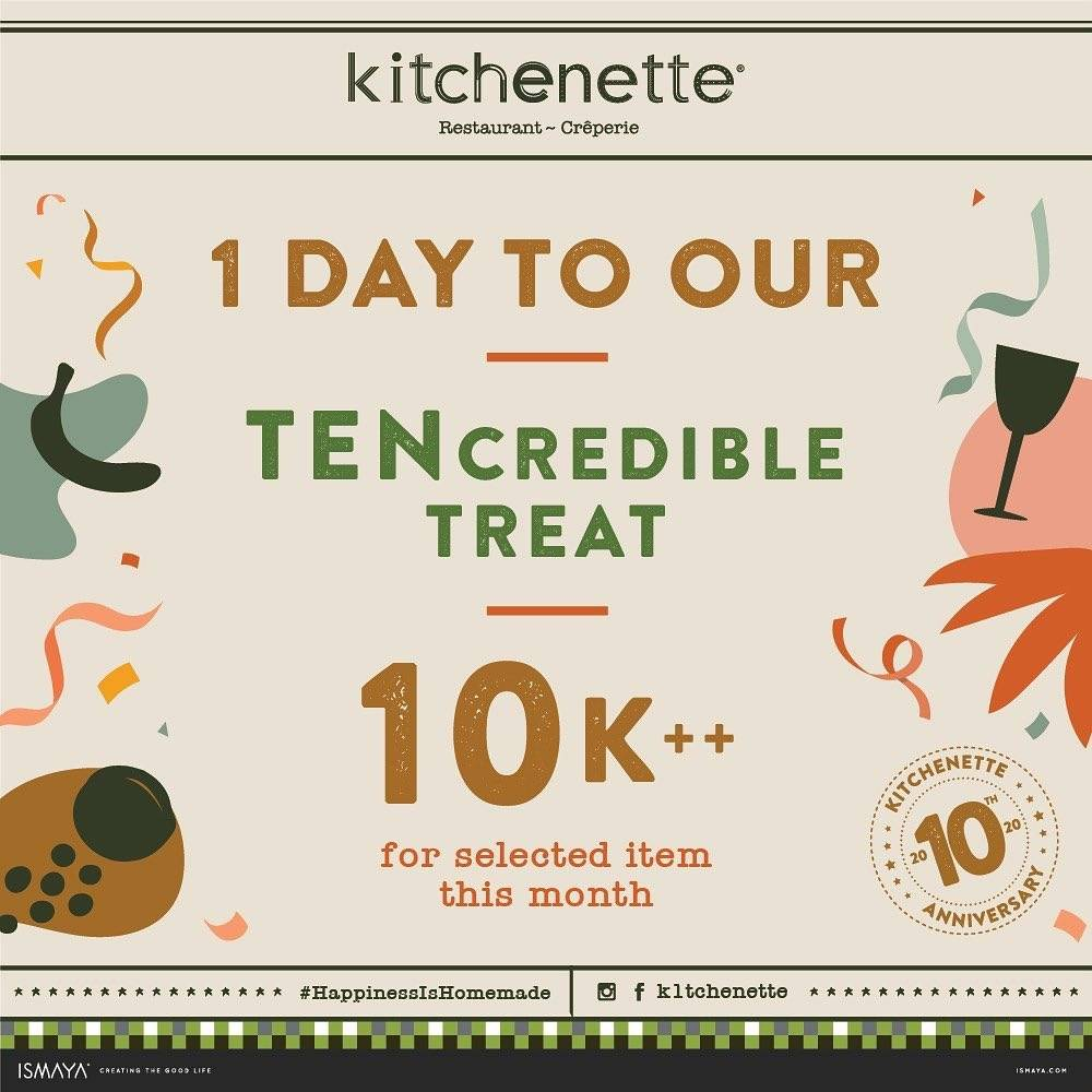 Kitchenette Promo Tencredible Treat, IDR 10.000 For Selected Item