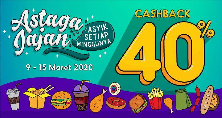OVO Promo Astaga Jajan, Cashback Hingga 40%