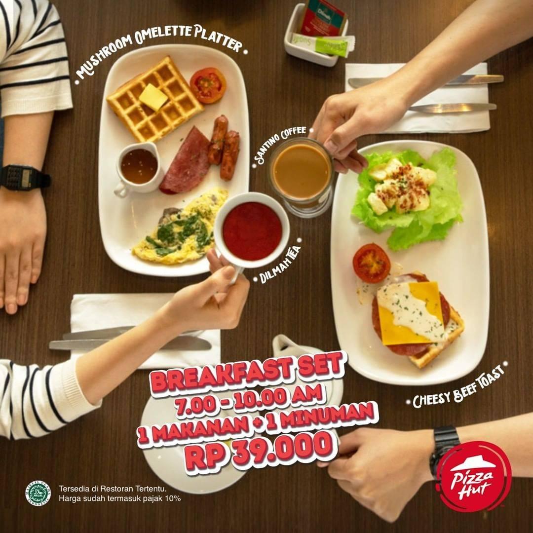 Pizza Hut Promo Breakfast Set Hanya Rp. 39.000