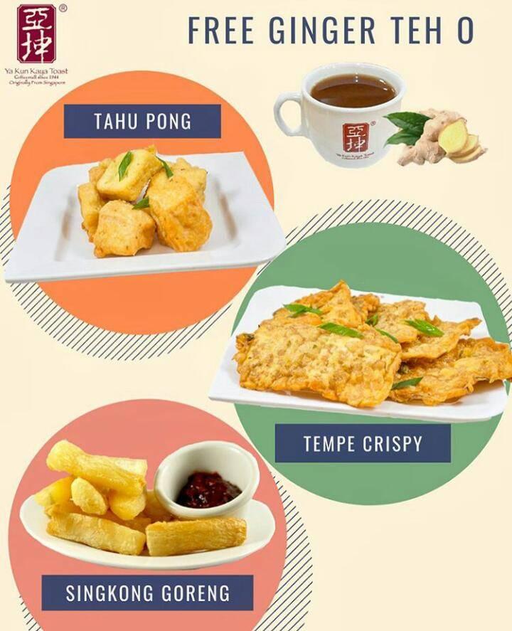 Ya Kun Kaya Toast Promo Gratis Ginger Tea Setiap Pembelian Menu Pilihan
