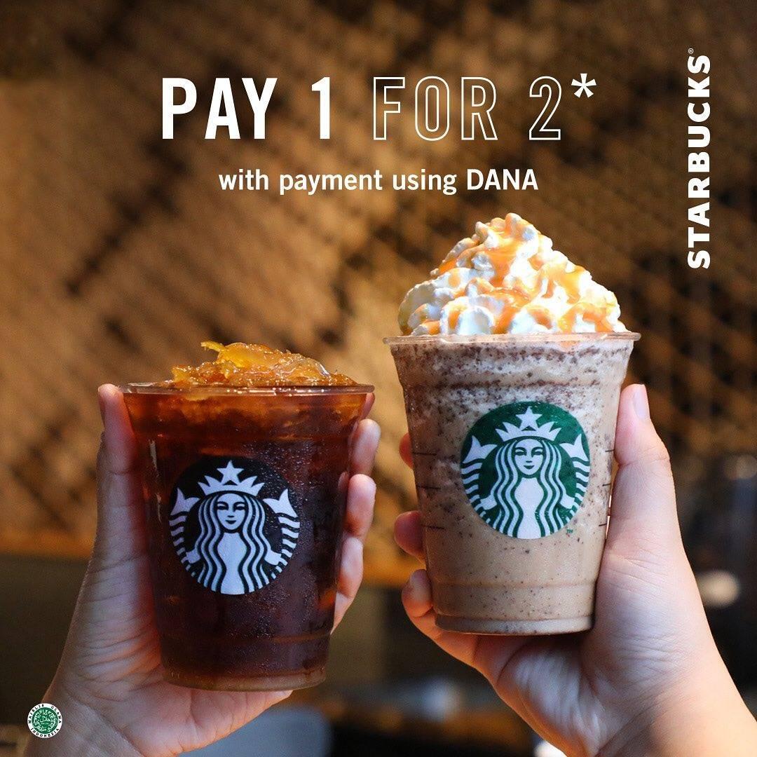 Starbucks Promo Beli 1 Gratis 1 Transaksi Menggunakan Aplikasi Dana