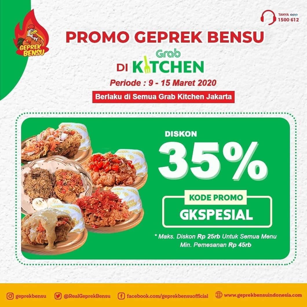 Geprek Bensu Promo Diskon Hingga 50% Di Grab Kitchen Pilihan