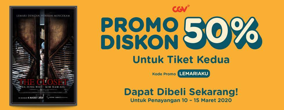 CGV Promo Diskon 50% Untuk Tiket Kedua Film The Closet