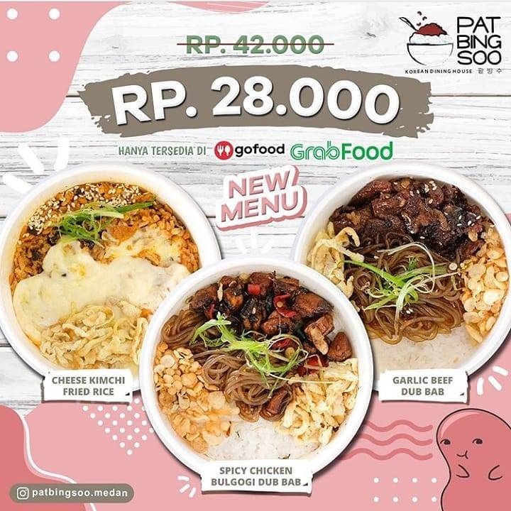 Pat Bing Soo Medan Value Deal, Menu Baru Cuma Rp. 28.000