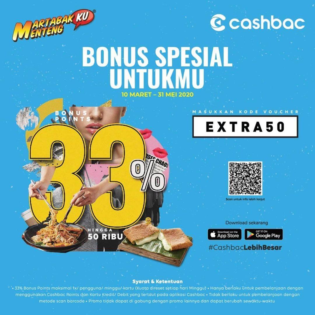 Martabakku Menteng Promo Extra Cashback 33% Dengan Aplikasi Cashbac