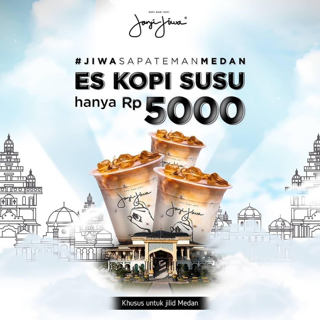 Kopi Janji Jiwa Medan Promo Harga Spesial Es Kopi Susu Cuma Rp. 5.000