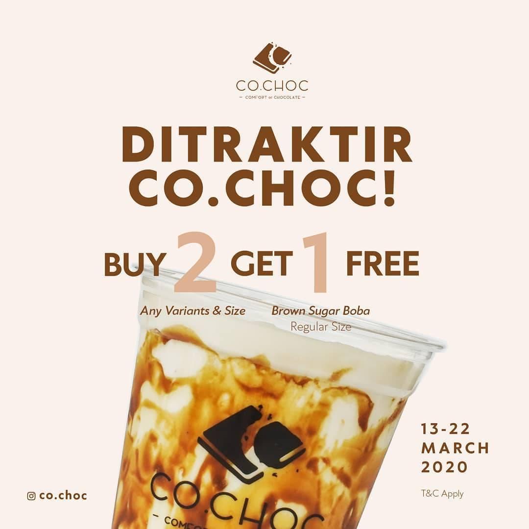 Cho.Choc Promo Buy 2 Any variants & Size Get 1 Free Regular Brown Sugar Boba