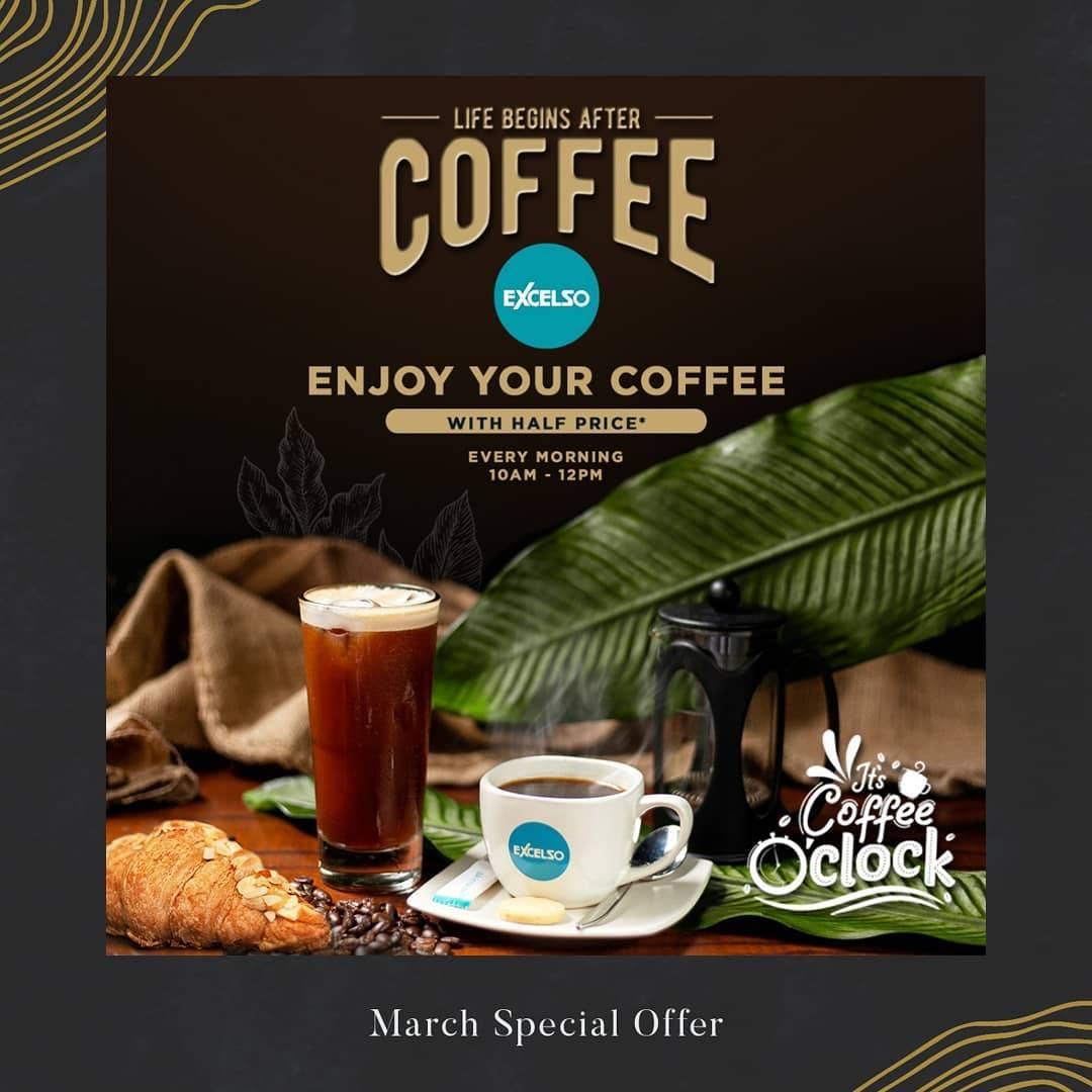Excelso Promo Diskon 50% Untuk Finest Indonesian Coffee