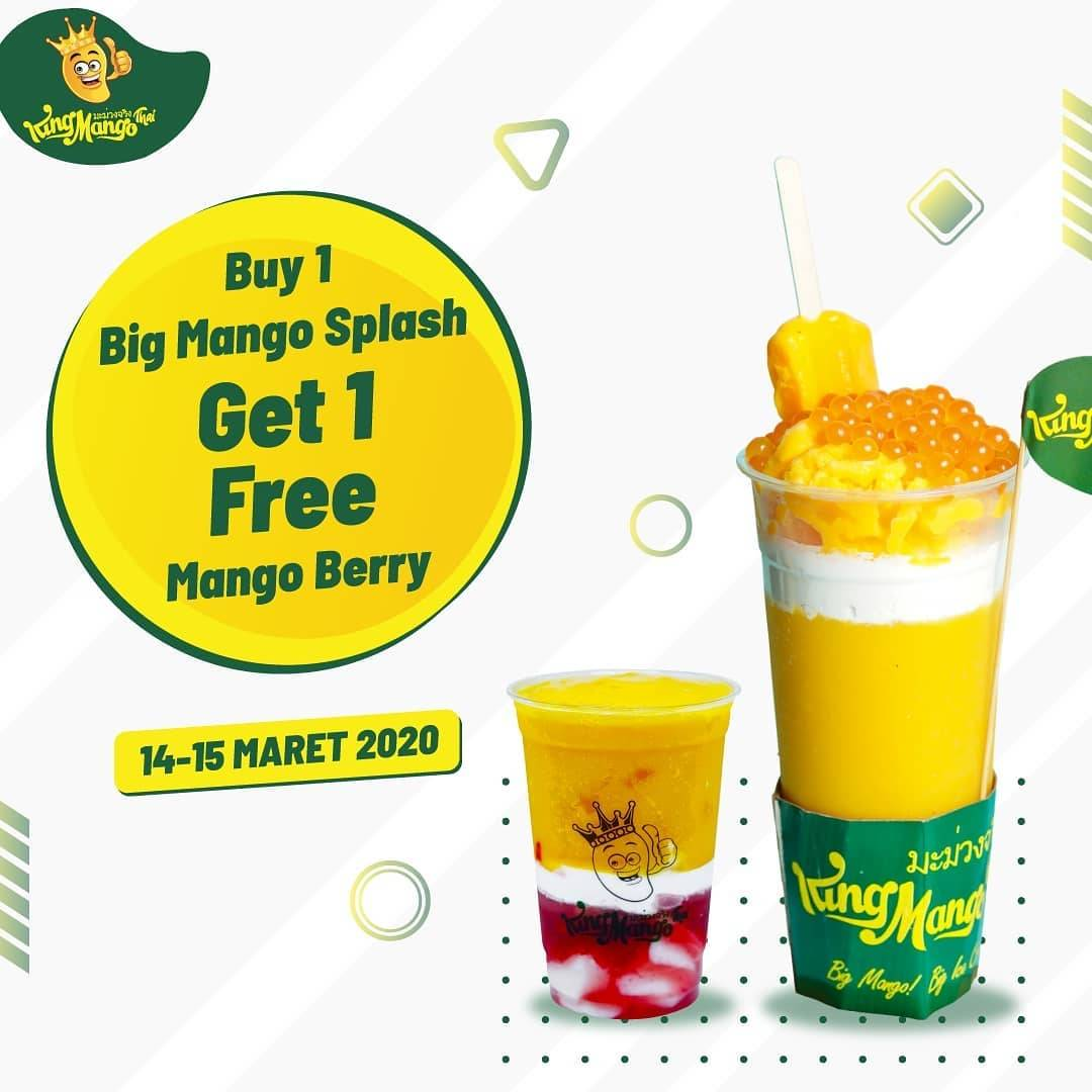 King Mango Promo Buy 1 Big Mango Splash Free 1 Mango Berry.