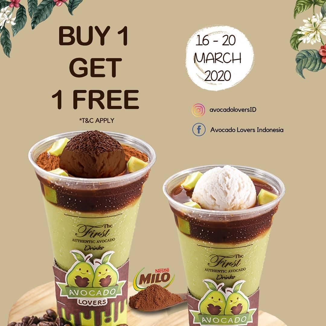 Avocado Lovers Promo Buy 1 Get 1 Free