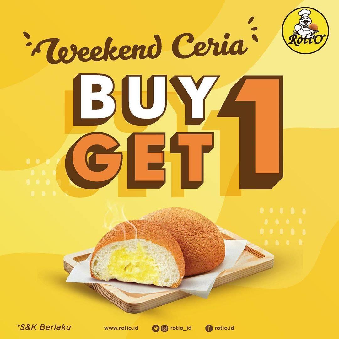 Roti'O Promo Weekend Ceria, Beli 1 Gratis 1 Roti'O