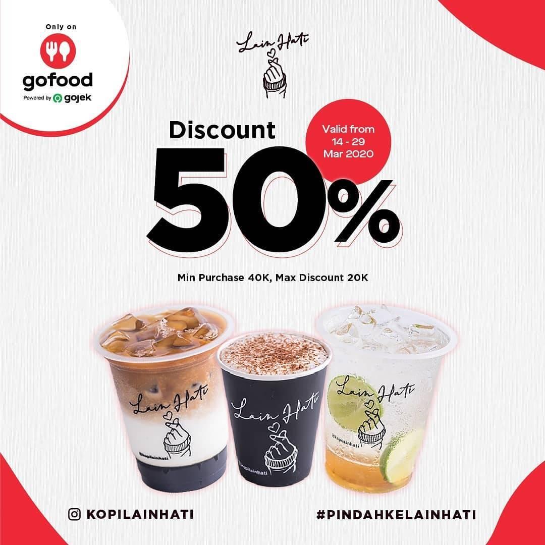 Kopi Lain Hati Promo Diskon 50% Pembelian Melalui Gofood