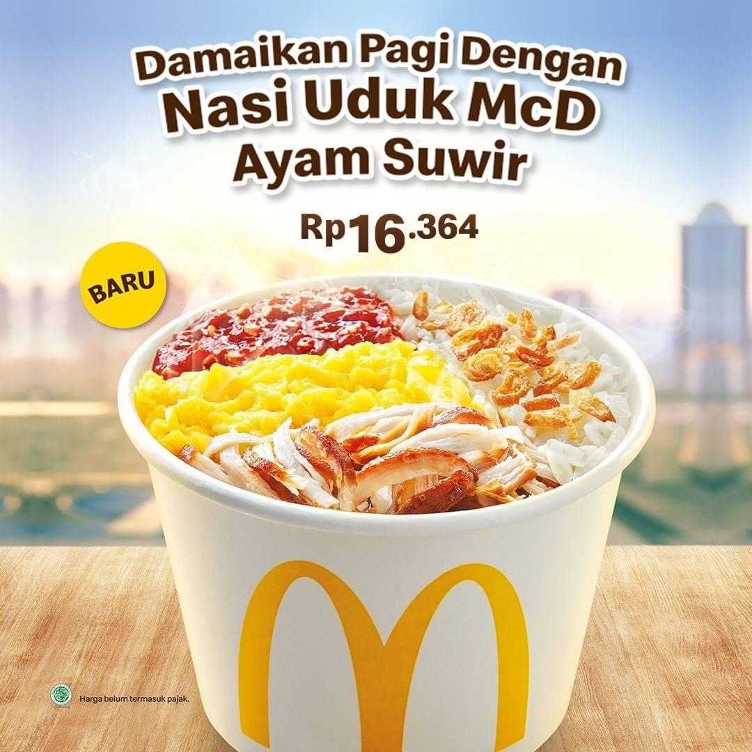 McDonalds Promo Menu Sarapan Nasi Uduk Ayam Suwir Hanya Rp. 16.364