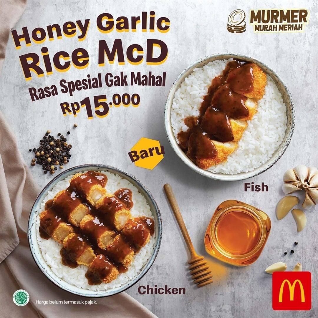 McDonalds Promo Menu Honey Garlic Rice McD Cuma Rp. 15.000