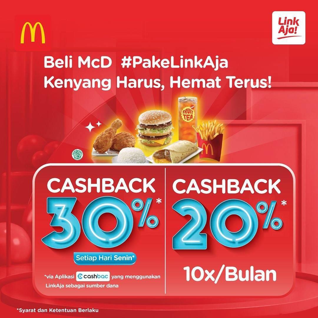 McDonalds Promo Cashback Dari LinkAja