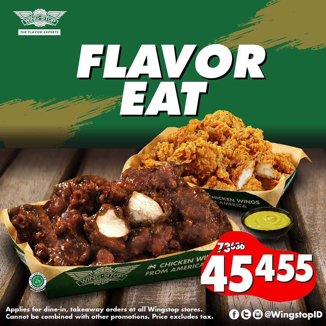 Wingstop Promo Flavor Eat, 10 Boneless Wings For Only IDR 45.455