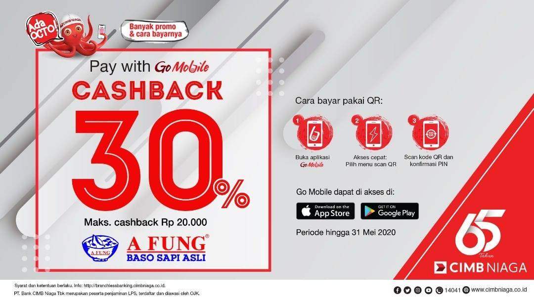 Baso A Fung Promo Cashback 30% Pembayaran Dengan Go Mobile