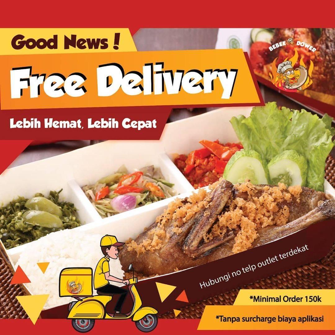 Bebek Dower Promo Free Delivery Setiap Minimal Pembelian Senilai Rp. 150.000
