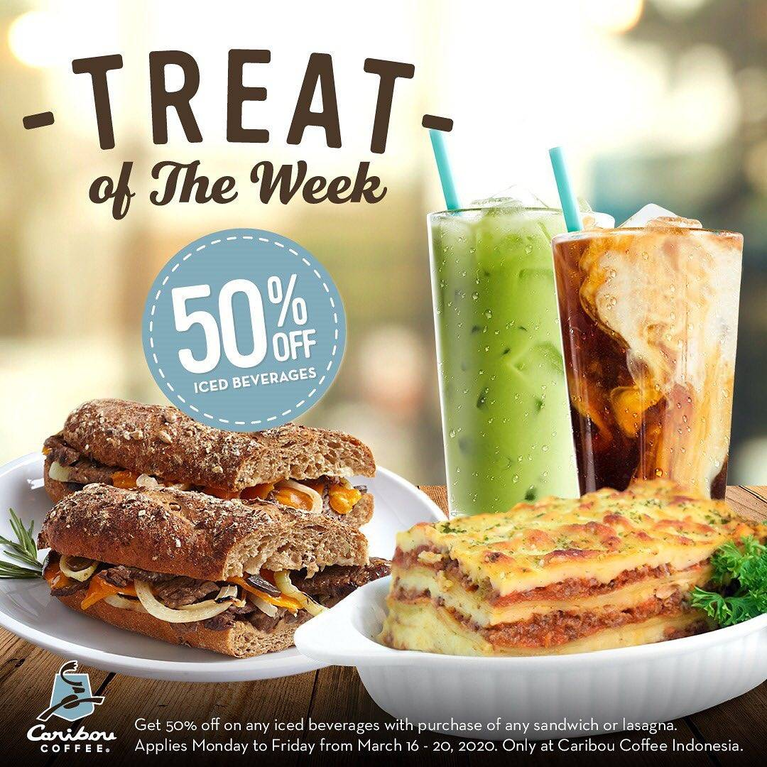 Caribou Coffee Promo Treat Of The Week, Discount 50% Off On Iced Beverages