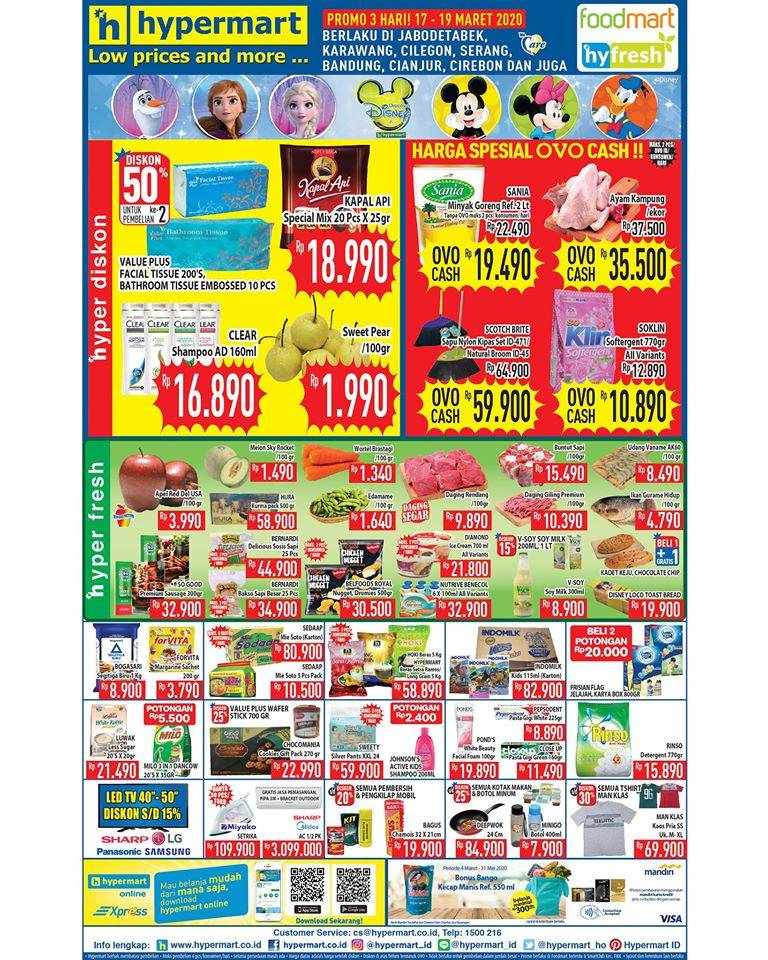 Hypermart Promo Katalog Periode 17-19 Maret 2020