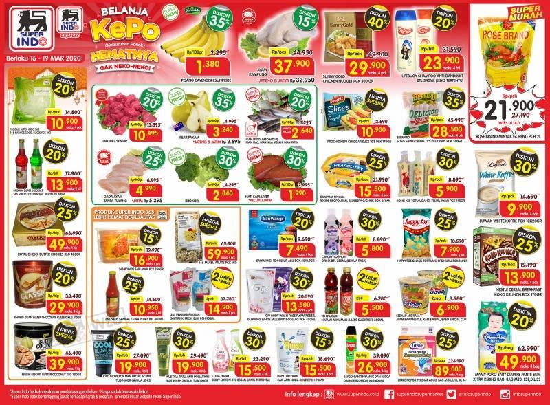Superindo Promo Belanja Kepo, Katalog Periode 16-19 Maret 2020