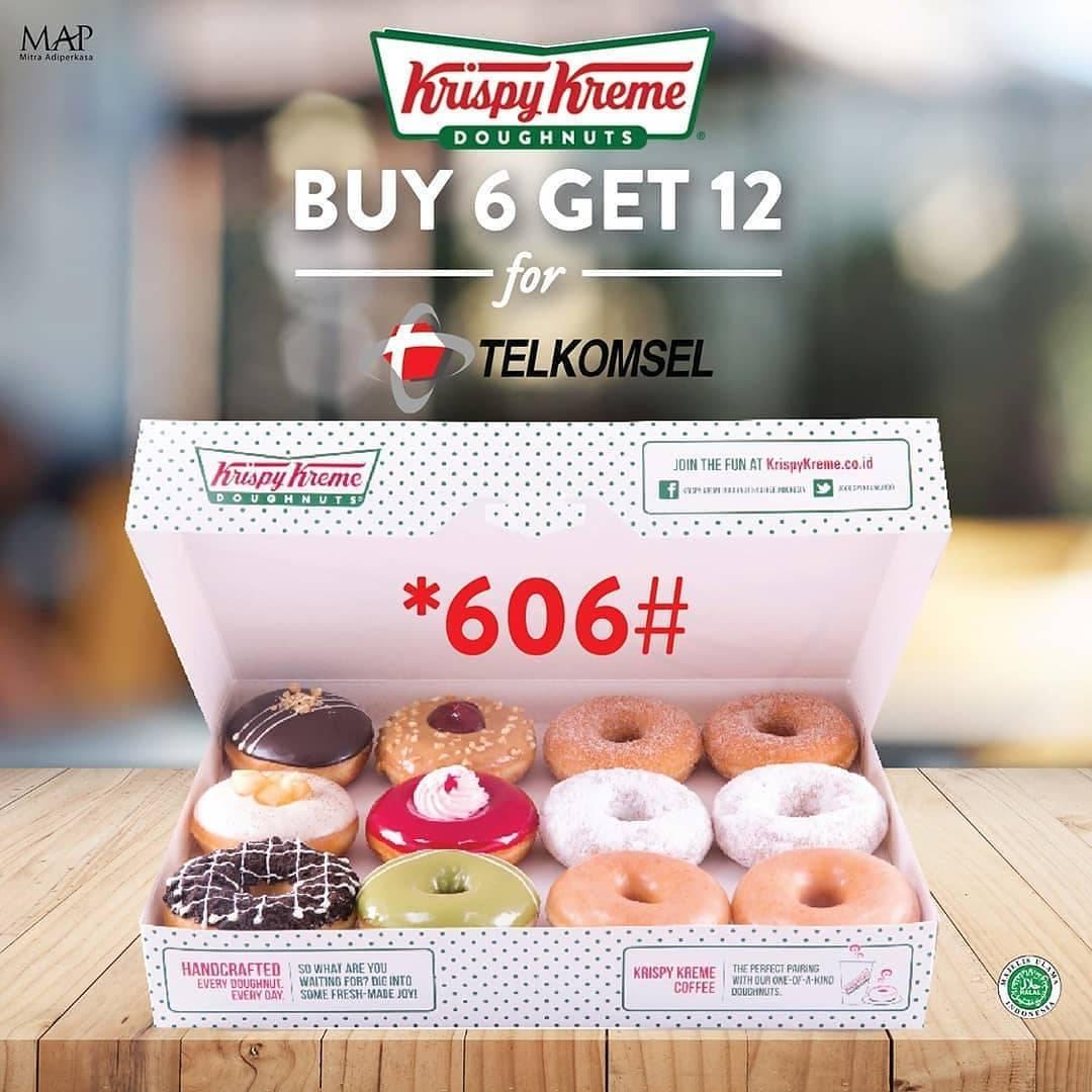 Krispy Kreme Promo Buy 6 Get 6 Free Doughnuts From Telkomsel