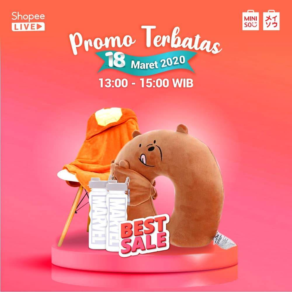 Miniso Promo Terbatas Best Sale Item Di Shopee Live Streming