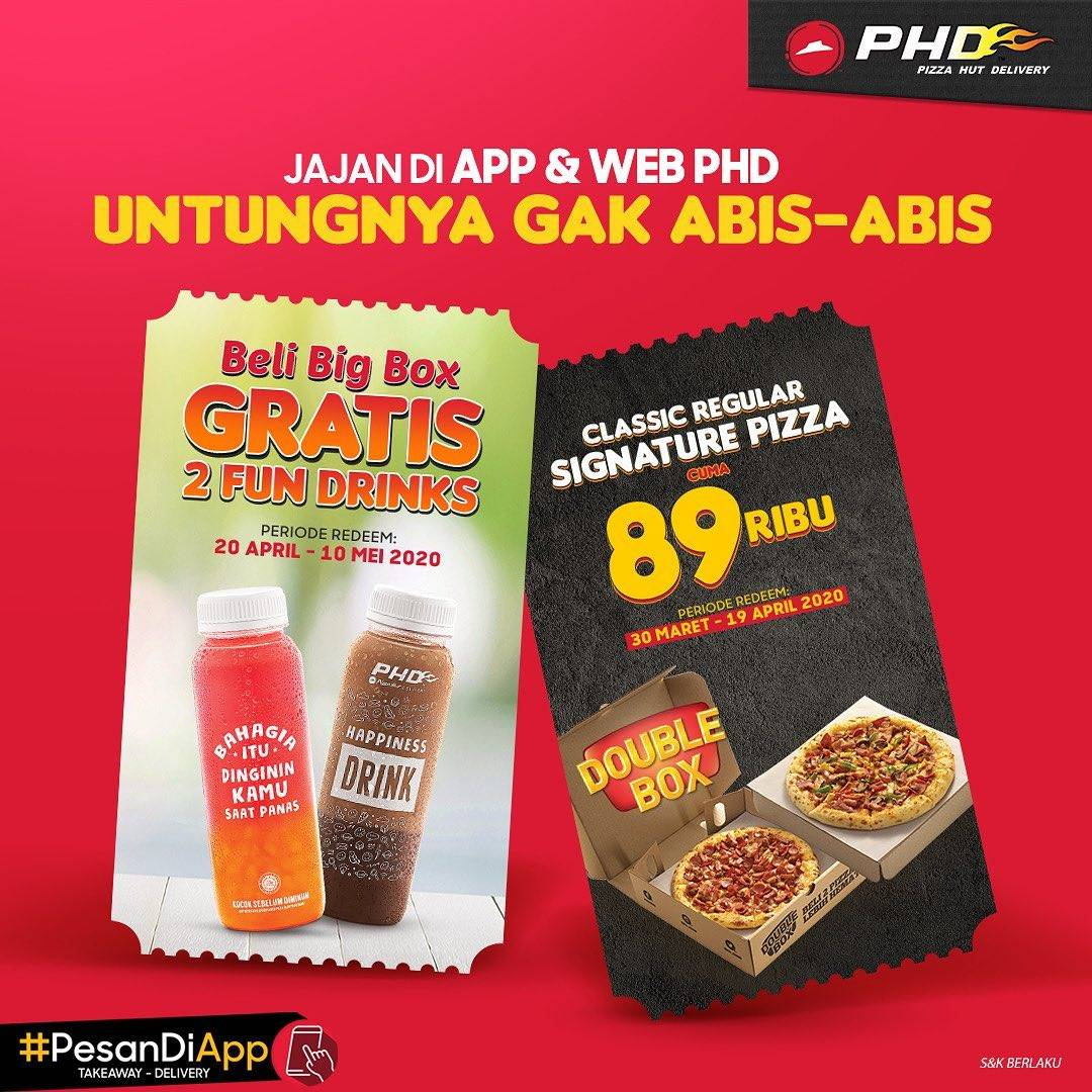 PHD Promo Double Box Cuma Rp. 89.000 + Kupon Free 2 Fun Drinks