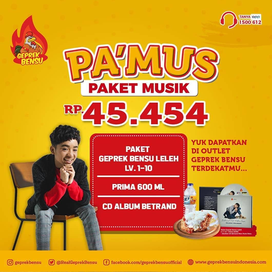 Geprek Bensu Promo Paket Musik Cuma Rp. 45.454