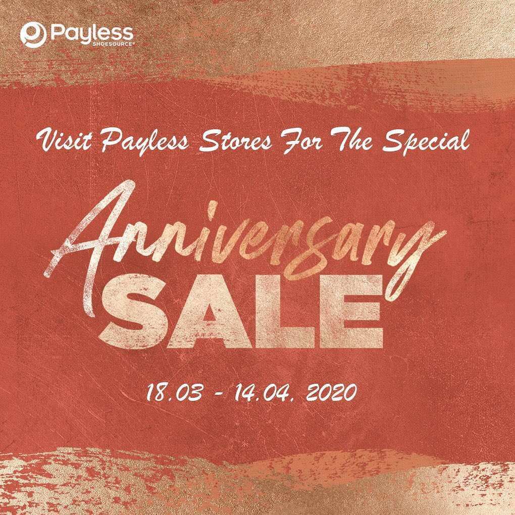 Payless Promo Anniversary Sale Periode 18 Maret - 14 April 2020