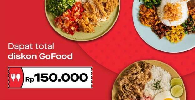 Diskon Gofood Promo 10 Voucher Diskon Senilai Rp. 150.000