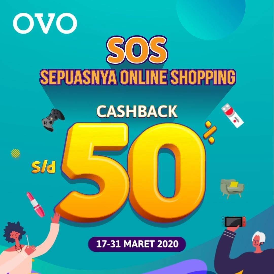OVO Promo SOS, Cashback Hingga 50% OVO Points