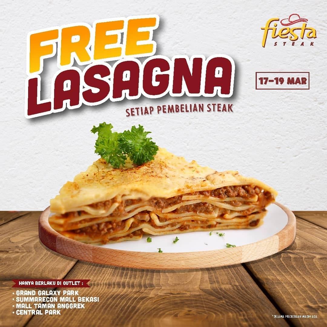 Fiesta Steak Promo Gratis Lasagna Setiap Pembelian Steak