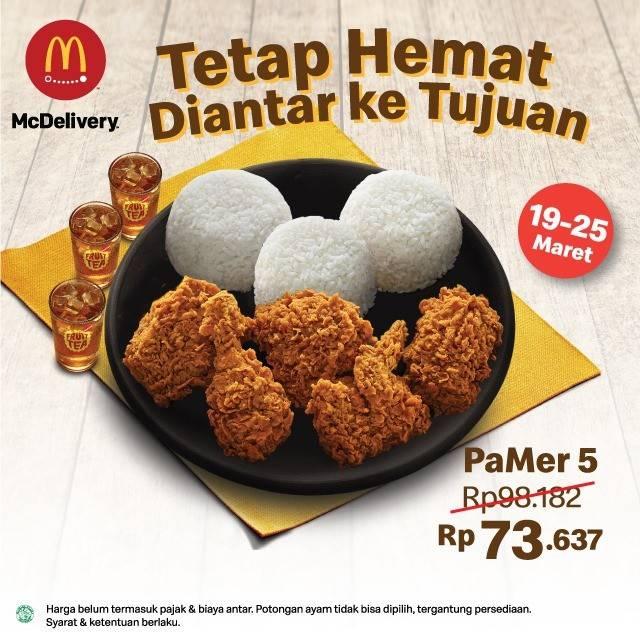 McDonalds Promo PaMer 5 Hanya Rp. 73.637 Dengan Pemesanan Di McDelivery