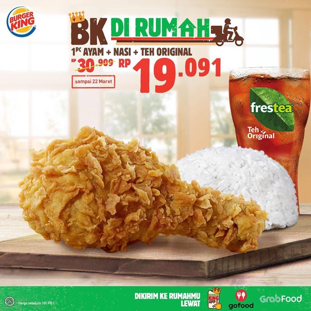 Burger King Promo Burger King Dari Rumah Menu Pilihan Harga Mulai Dari Rp. 19.091