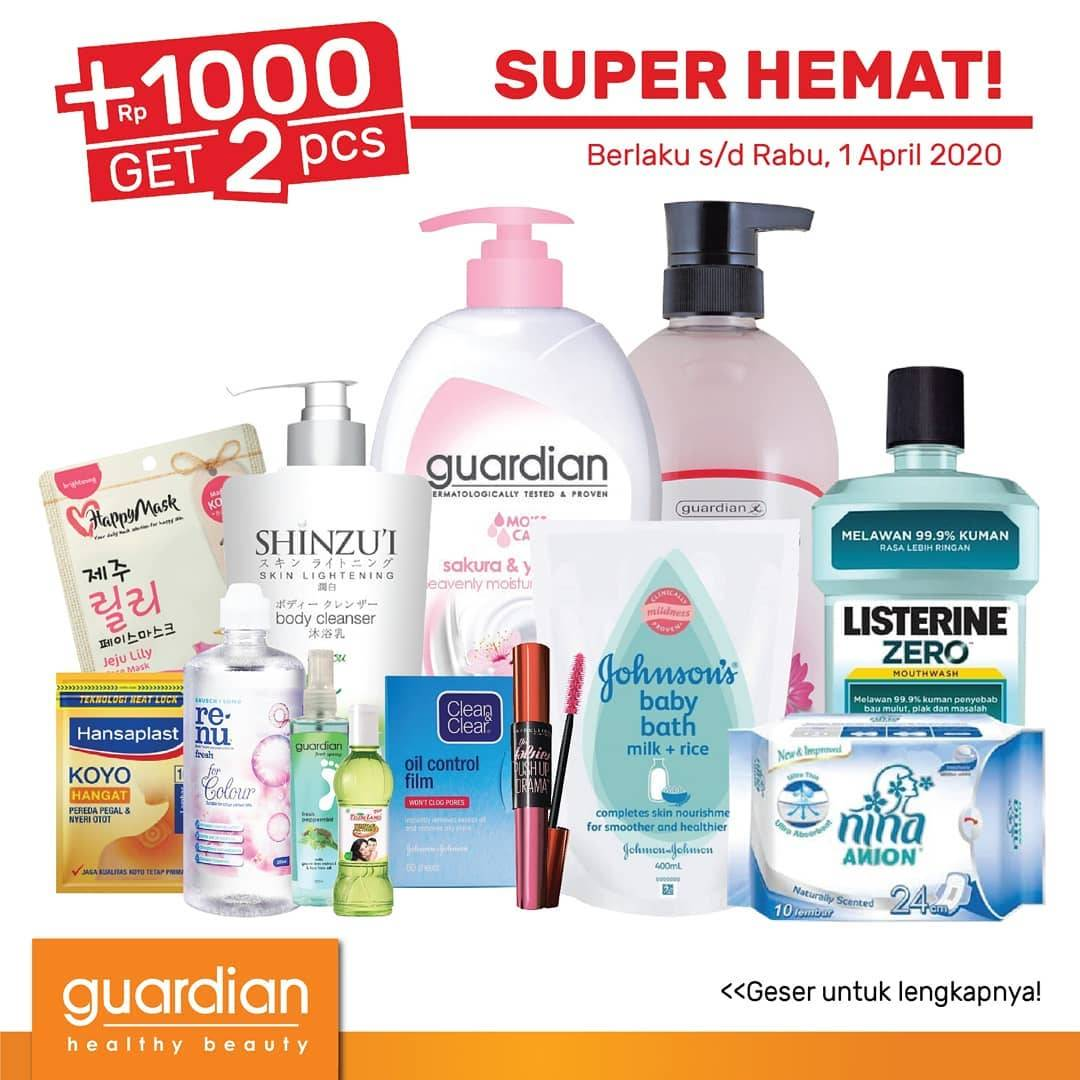 Diskon Guardian Promo Katalog Periode 19 Maret - 1 April 2020