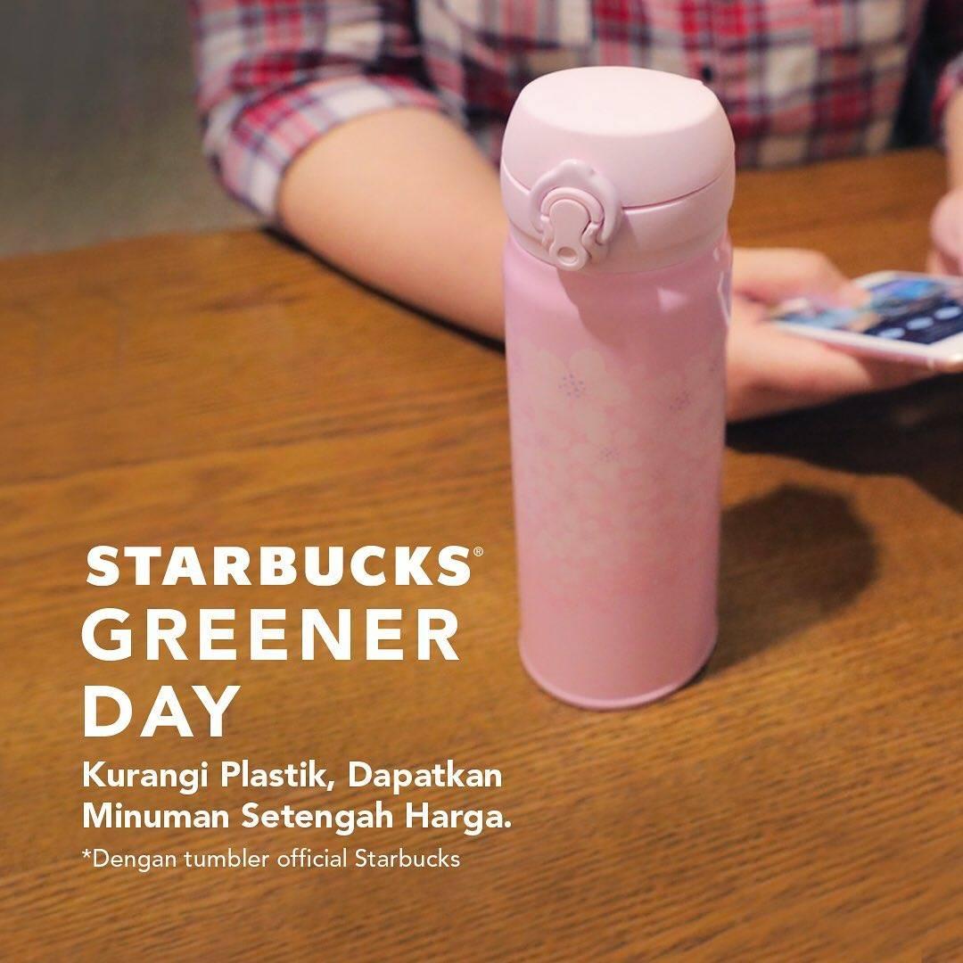 Diskon Starbucks Promo Diskon 50% Untuk Minuman Setiap Membawa Tumblr/Mug Starbucks