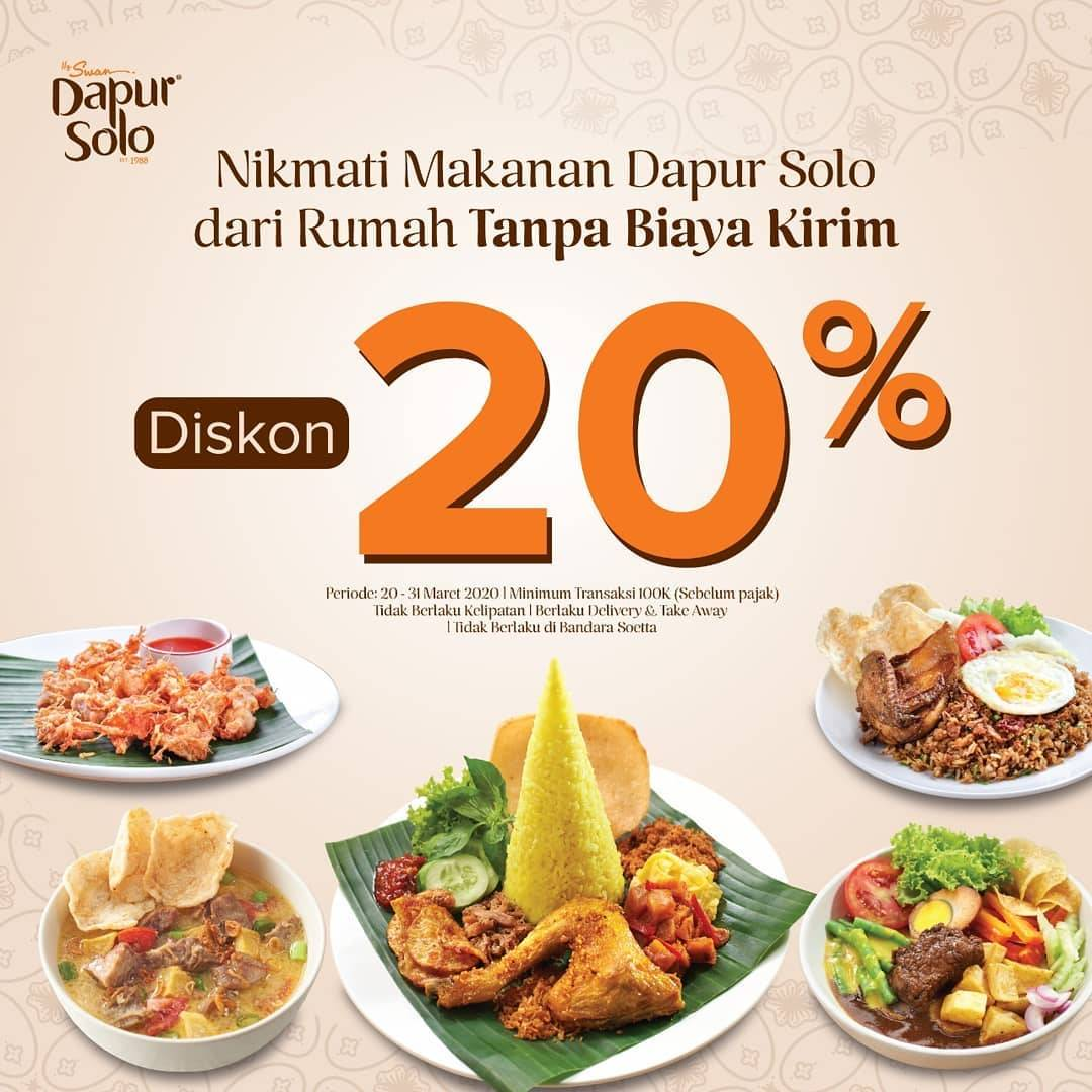 Dapur Solo Promo Diskon 20% + Free Delivery