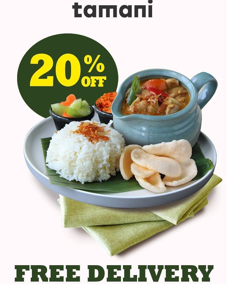 Tamani Cafe Promo Diskon 20% + Free Delivery